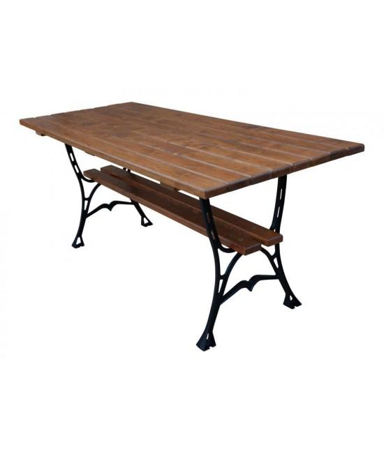 Liatinový záhradný stôl 180 hranatý