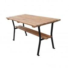 Stôl záhradný drevo a oceľ 180 cm