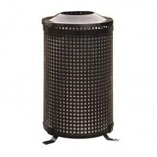 Vonkajší kovový odpadkový kôš okrúhly