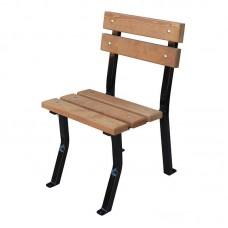 Záhradná stolička Nela drevo a oceľ