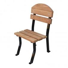 Stolička Nela Lux drevo a oceľ